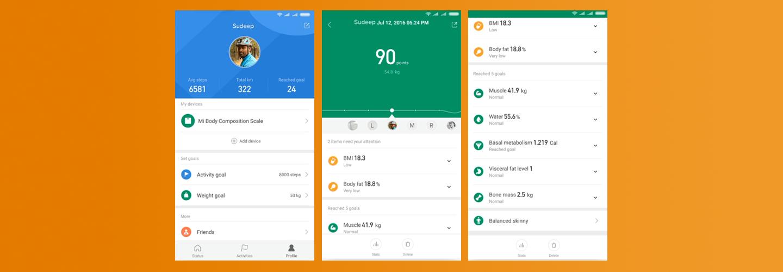 Mi Smart Body Composition Scale - Mi Fit App
