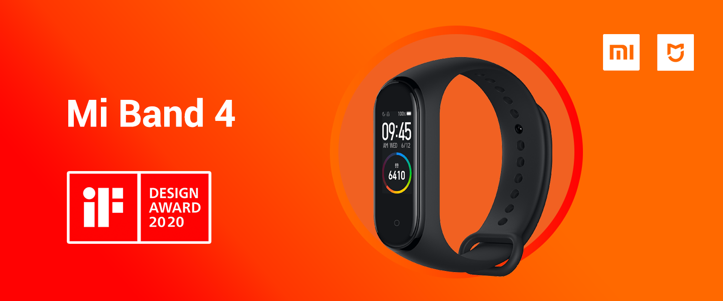 Mi Band 4 wins iF Design Award 2020