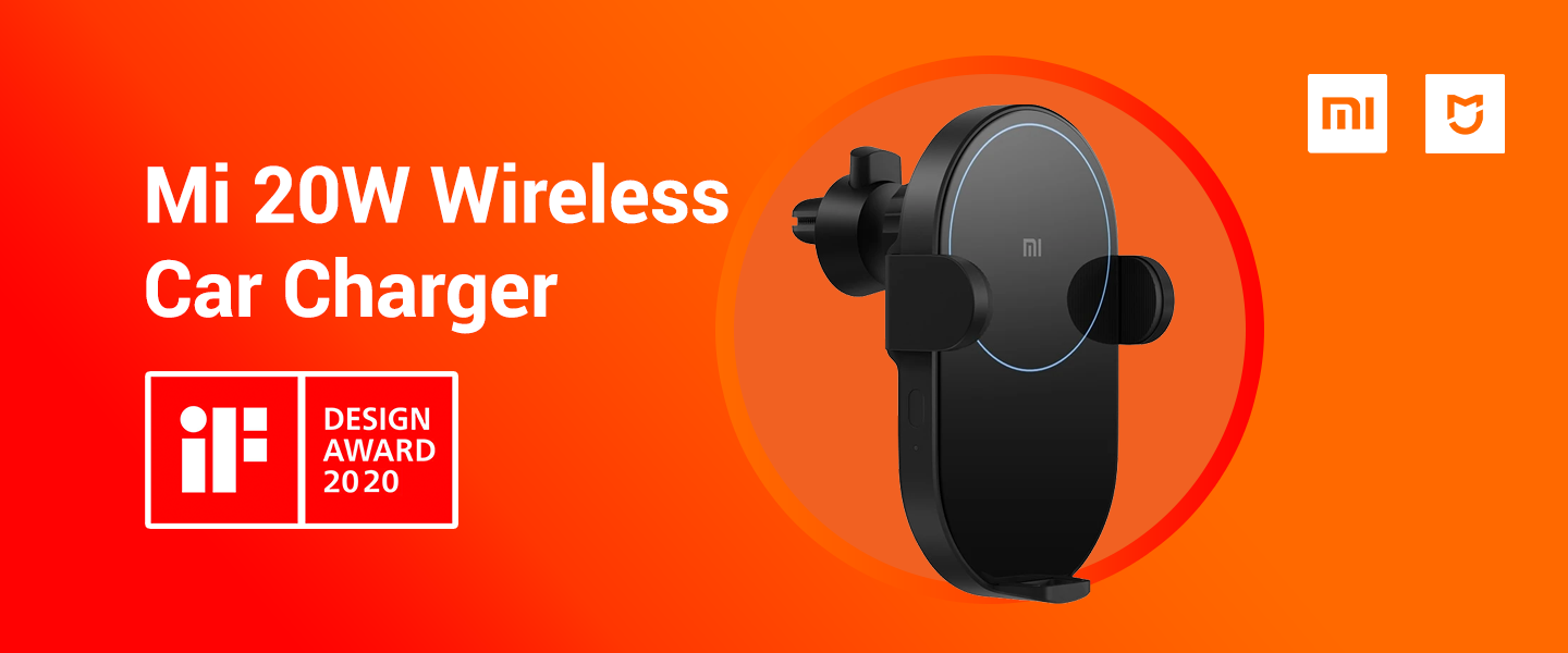 Mi 20W Wireless Car Charger wins iF Design Award 2020